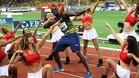 Bolt volvió a ser el centro de la atención en Mónaco