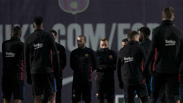 El Barça se entrenó por última vez antes de medirse al Betis
