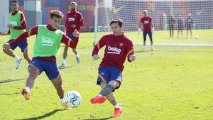 El Barça volvió al trabajo este viernes por la mañana