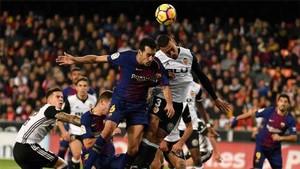 Busquets lamentó el gol anulado