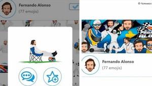 La colección de emoticonos de Fernando Alonso