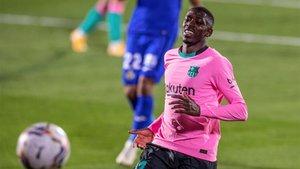 Dembélé debutó como titular frente al Getafe