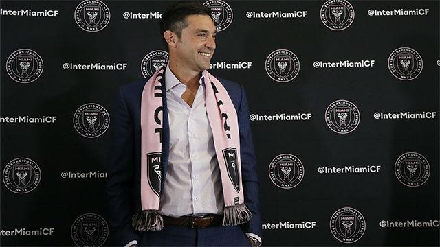 Diego Alonso, presentación en el equipo de Beckham