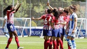 Encuentro entre Atlético de Madrid y Real Sociedad de la Liga Iberdrola