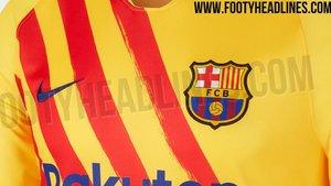 Esta sería la cuarta camiseta del FC Barcelona 2019/20