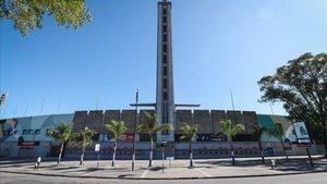 El estadio Centenario es hoy un centro para combatir el coronavirus