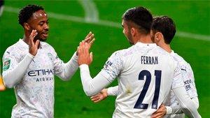 Ferran Torres anotó este miércoles su primer gol como jugador del City