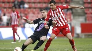 Fran Sandaza, en un partido con el Girona
