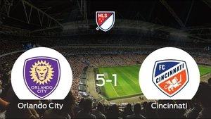 Goleada del Orlando City frente al Cincinnati (5-1)