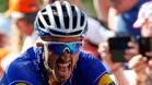 Julian Alaphilippe, Quick-Step, celebra su victoria en la carrera Fleche Wallone