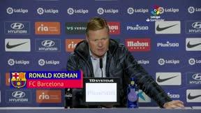 Koeman: El gol del Atlético no puede pasar