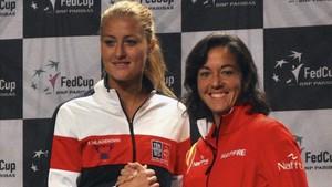 Kristina Mladenovic y Silvia Soler, protagonistas del duelo inicial de Copa Federación