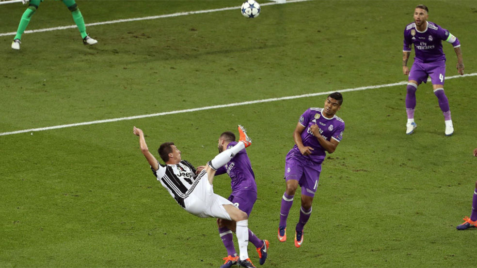 Las mejores imágenes del gol de Mandzukic