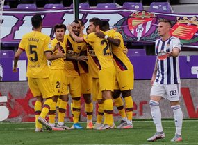 Las mejores imágenes del Real Valladolid 0 FC Barcelona 1