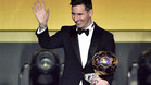 Leo Messi encabeza el palmarés del Balón de Oro
