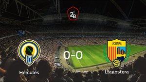 El Llagostera consigue un empate a cero frente al Hércules