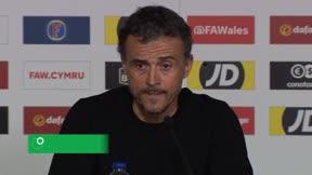 Luis Enrique en titulares tras la victoria ante Gales