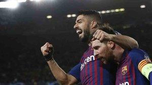 Luis Suárez agradeció las palabras de Messi
