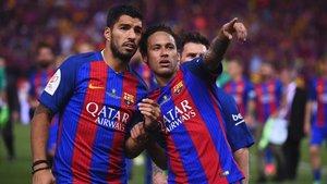Luis Suárez y Neymar Junior coincidieron durante tres temporadas en el FC Barcelona