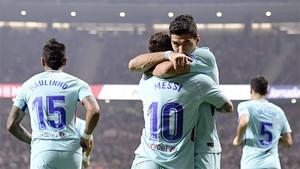 Luis Suárez recompensó en el 81 el buen trabajo del Barça en el Wanda