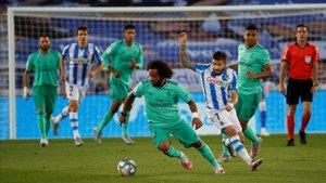 Marcelo recuperó la titularidad en San Sebastián
