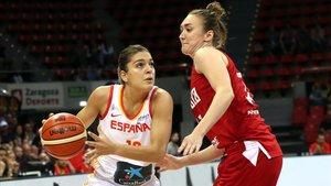 Marta Xargay y Anastasia Logunova, en el amistoso de Zaragoza