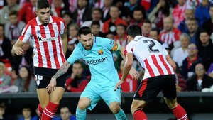 Messi, el año pasado en San Mamés