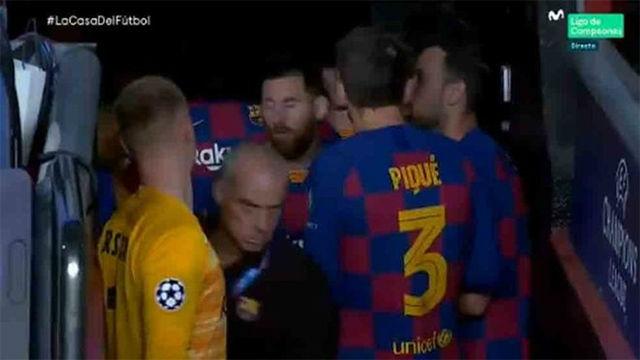 La motivadora charla de Messi en el túnel