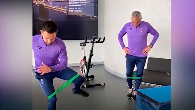 ¡Mourinho no para! El divertido entrenamiento virtual del Tottenham