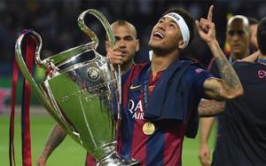 Neymar, campeón de la Champions League