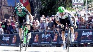 Nizzolo y Alex Aramburu protagonizaron un bonito final de etapa.