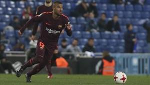 Rafinha pudo haber jugado su último partido con el Barça ante el Espanyol