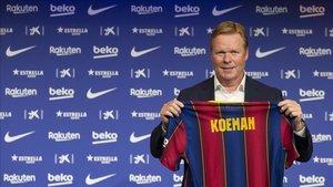 Ronald Koeman se siente como en casa en el Camp Nou