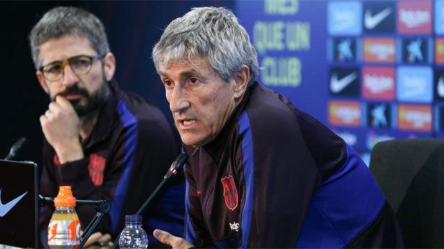 Setién respondió a Messi y defendió la plantilla actual
