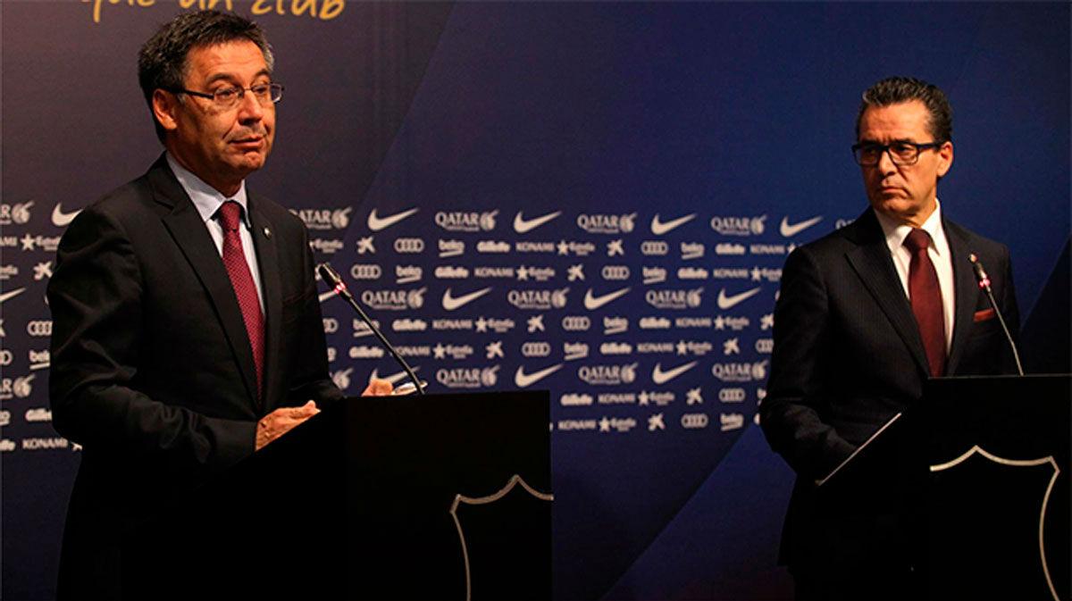 Sigue en directo la rueda de prensa de Bartomeu y Josep Vives