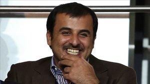 Tamim Al-Thani ha estado en el palco en más de una ocasión