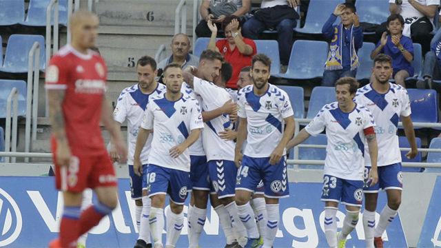 El Tenerife cierra la temporada con una victoria ante el Zaragoza