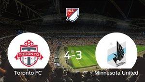 El Toronto FC vence 4-3 y se lleva los tres puntos