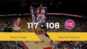 Triunfo de Miami Heat ante Detroit Pistons por 117-108