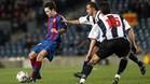Una imagen del Barça-Levante de Copa 2003-04, la última vez que el equipo azulgrana, ya con Iniesta en sus filas, levantó un 1-0 en Copa
