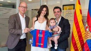 Xavi Hernández y Núria Cunillera son padres por segunda vez