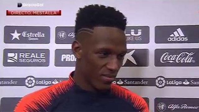 Yerry Mina habló tras su debut con el FC Barcelona