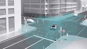 Conducción automatizada en la ciudad.
