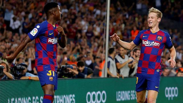 El 1x1 del Barça ante el Valencia en el descanso