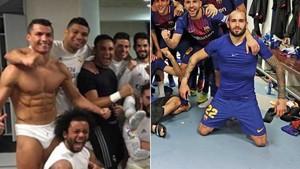 Aleix Vidal parodió uno de los festejos de Cristiano Ronaldo