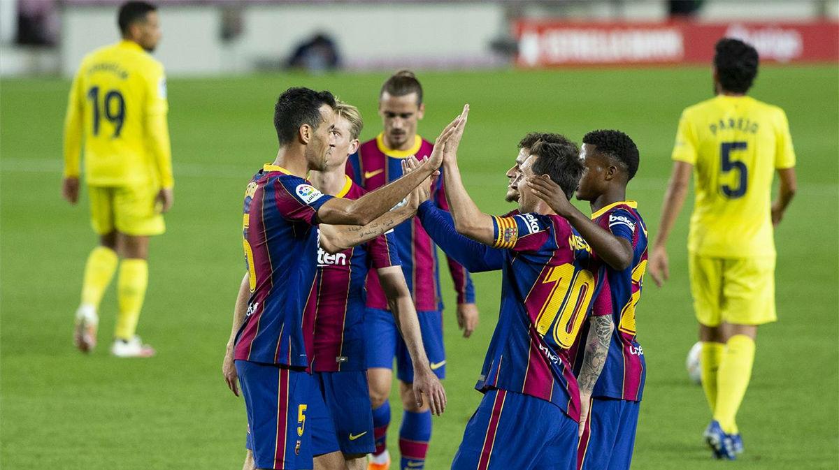 Ansu Fati lidera a un Barça arrolador en su estreno en liga ante el Villarreal