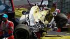 Así quedó el Renault de Magnussen en Spa