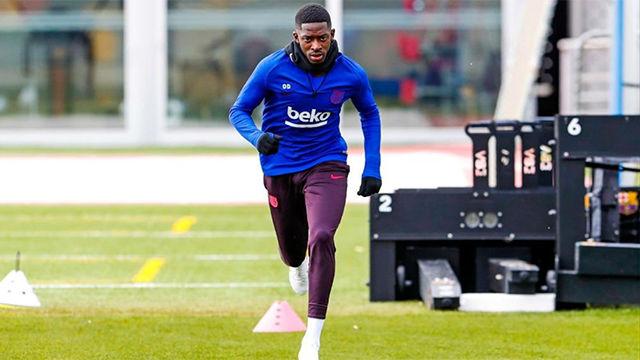 El Barça regresa a los entrenamientos ya con Dembélé trabajando en solitario en el césped