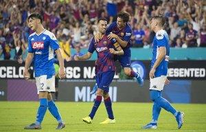 El Barcelona se impuso ante el conjunto de Ancelotti en la ida