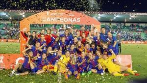 El FC Barcelona, vigente campeona de la Copa de la Reina